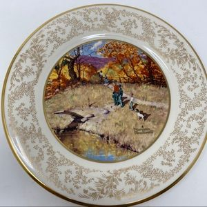 Norman Rockwell Autumn Reflections Collector Plate